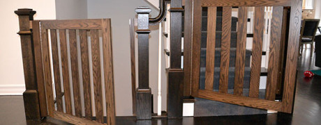 Ebony Stained Oak Swing Gates